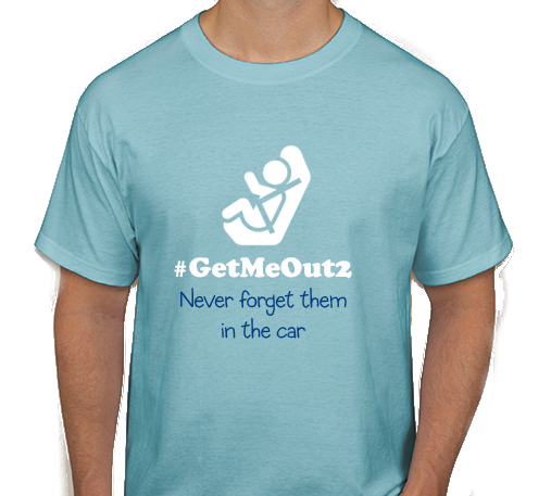 A male model in a blue shirt with the get me out 2 hashtag and slogan
